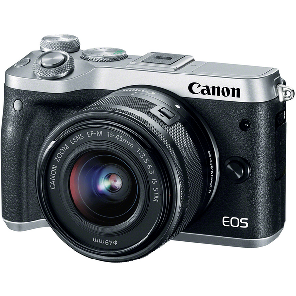 دوربین دیجیتال کانن مدل EOS M6 15-45mm IS STM Canon EOS M6 With 15-45mm IS STM Lens Digital Camera