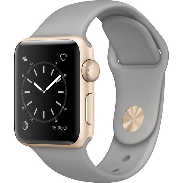 ساعت هوشمند اپل واچ 2 مدل 38mm Gold Aluminum Case with Concrete Sport Band