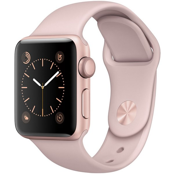 ساعت هوشمند اپل واچ 2 مدل 38mm Rose Gold Aluminum Case with Pink Sand Sport Band