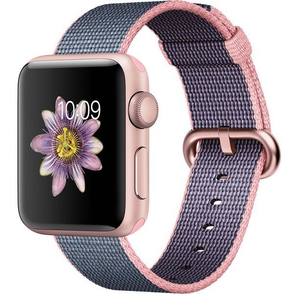 ساعت هوشمند اپل واچ 2  مدل 38mm Rose Gold Aluminum Case with Woven Nylon