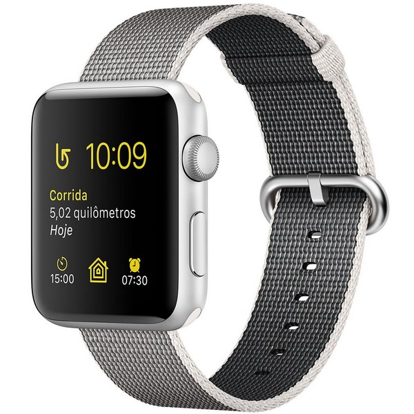 ساعت هوشمند اپل واچ 2  مدل 38mm Silver Aluminum Case with Pearl Woven Nylon
