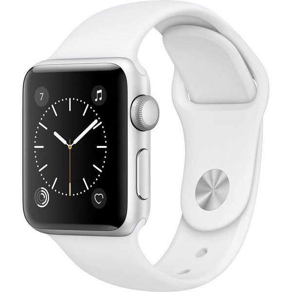 ساعت هوشمند اپل واچ 2  مدل 38mm Silver Aluminum Case with White Sport Band