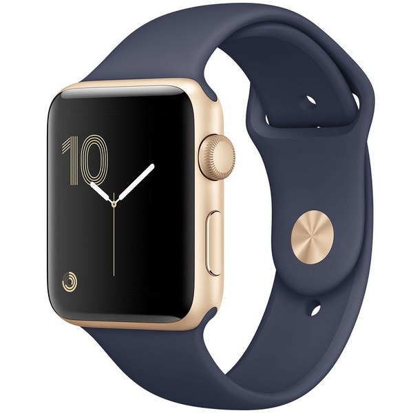 ساعت هوشمند اپل واچ 2  مدل 42mm Gold Aluminum Case with Midnight Blue Sport Band