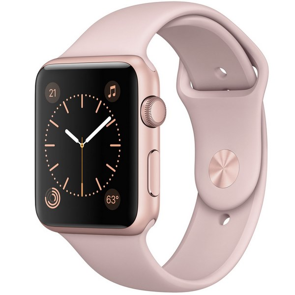 ساعت هوشمند اپل واچ 2  مدل 42mm Rose Gold Aluminum Case with Pink Sand Sport Band