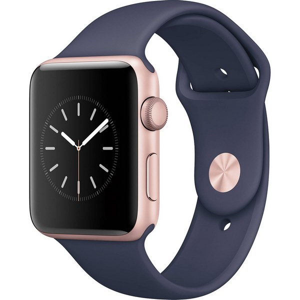 ساعت هوشمند اپل واچ 2 مدل 42mm Rose Gold Case with Midnight Blue Sport Band