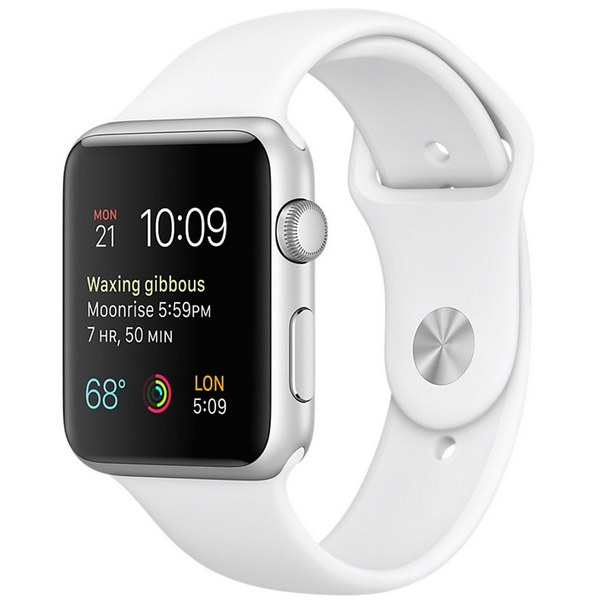 ساعت هوشمند اپل واچ 2 مدل 42mm Silver Aluminum Case with White Sport Band