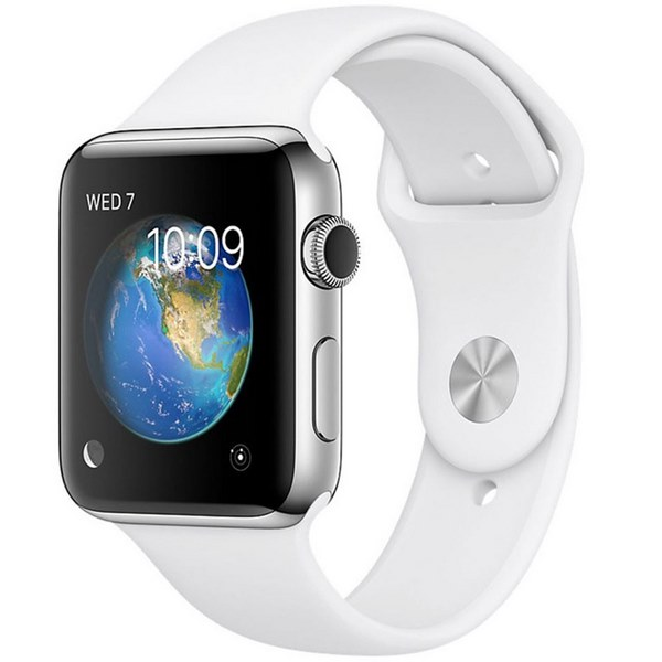 ساعت هوشمند اپل واچ 2 مدل 42mm Stainless Steel Case with White Sport Band