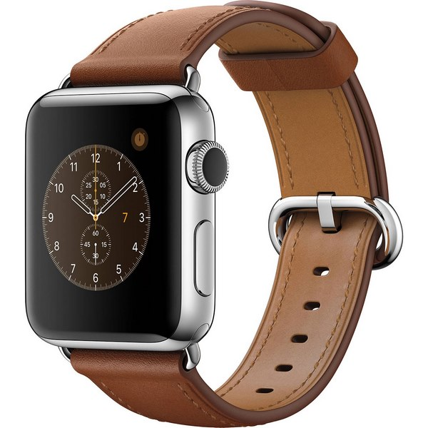 ساعت هوشمند اپل واچ 2 مدل 42mm Steel Case with Saddle Brown Classic Buckle