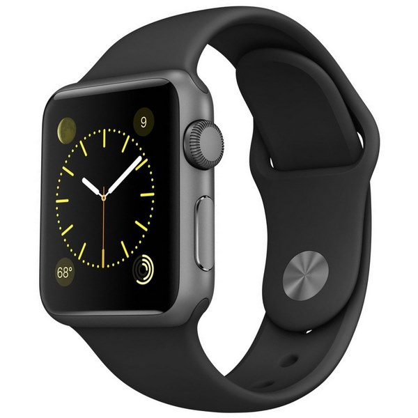 ساعت هوشمند اپل واچ مدل 38mm Space Gray Aluminum Case with Black Sport Band