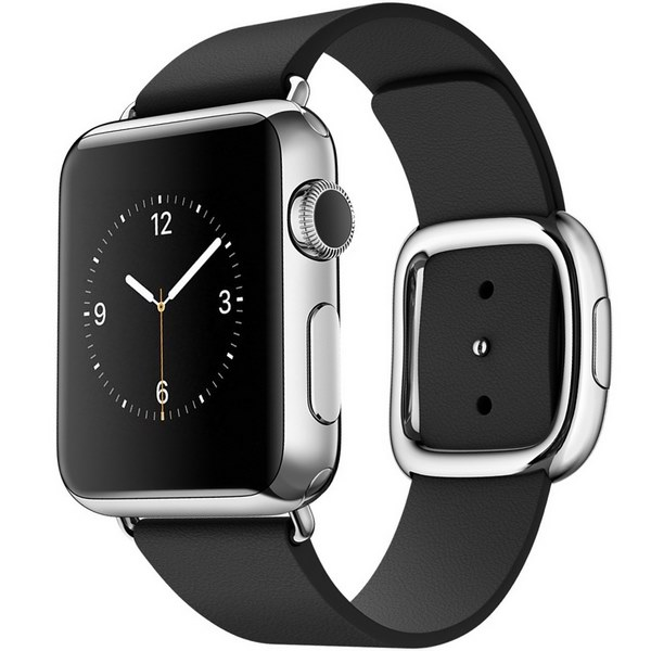 ساعت هوشمند اپل واچ مدل 38mm Stainless Steel Case with Black Modern Buckle