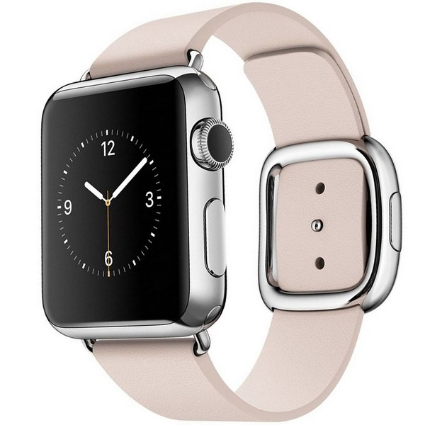 ساعت هوشمند اپل واچ مدل 38mm Stainless Steel Case with Pink Modern Buckle