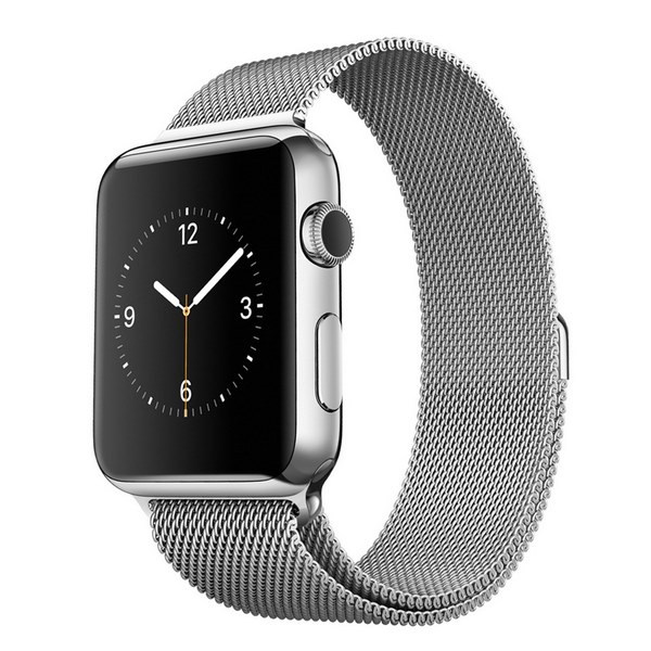 ساعت هوشمند اپل واچ مدل 38mm Stainless Steel Case with Milanese Loop