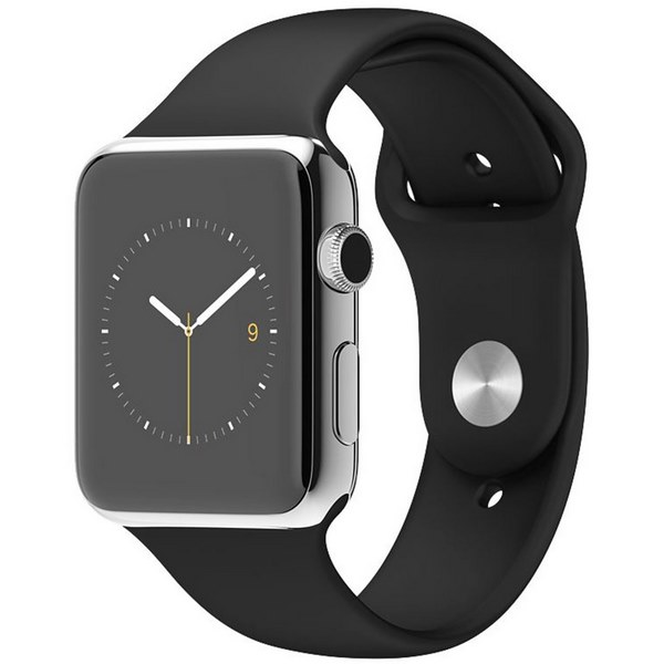 ساعت هوشمند اپل واچ مدل 38mm Stainless Steel Case with Black Sport Band