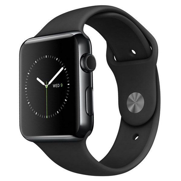 ساعت هوشمند اپل واچ مدل 38mm Space Black Stainless Steel Case with Black Sport Band
