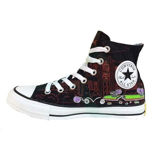 کفش زنانه کانورس مدل Chuck Taylor All Star High Simpsons 146810C